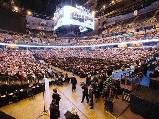 University of Memphis Graduation at FedEx Forum
