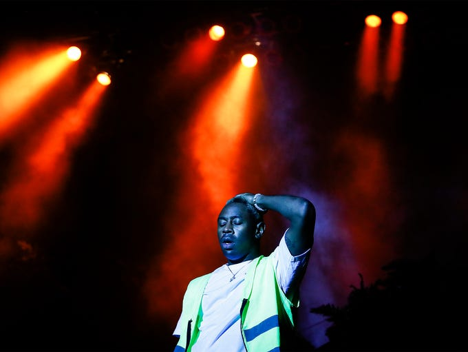 Tyler, The Creator performs on the River Stage Friday