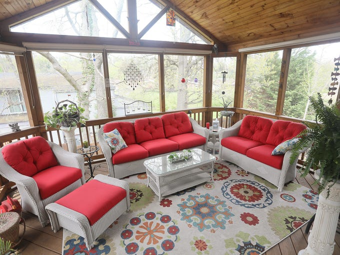 The sun porch at the home of Joe and Terry Tolan in