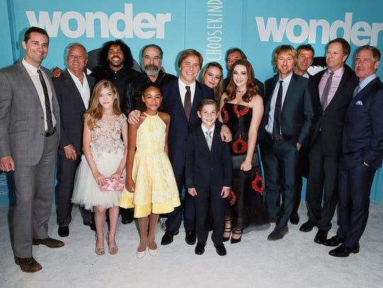 "Danielle Rose Russell with the cast and crew of ""Wonder"""
