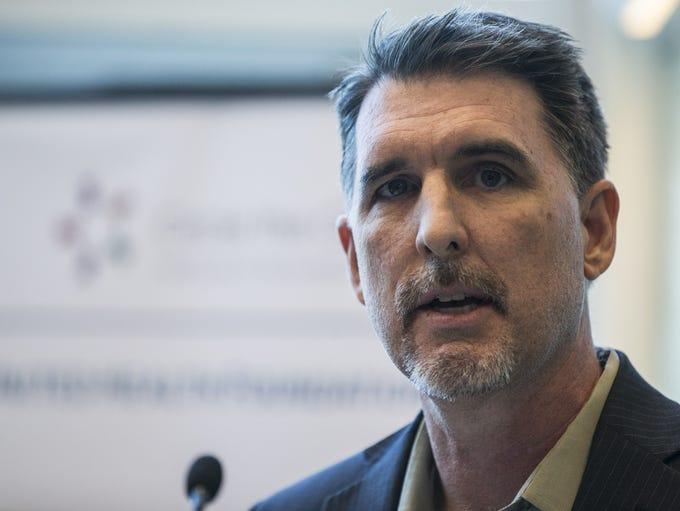 Arizona Medicaid Director Tom Betlach speaks during