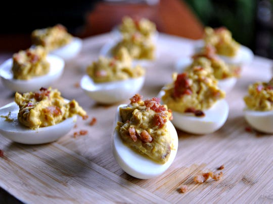 Deviled eggs with a twist.