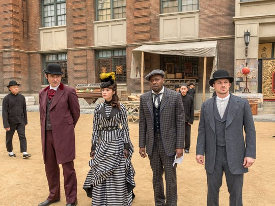 The 'Timeless' crew made a stop in 1880s San Francisco in the second season finale. (From left: Goran Visnjic, Abigail Spencer, Malcolm Barrett and Matt Lanter)