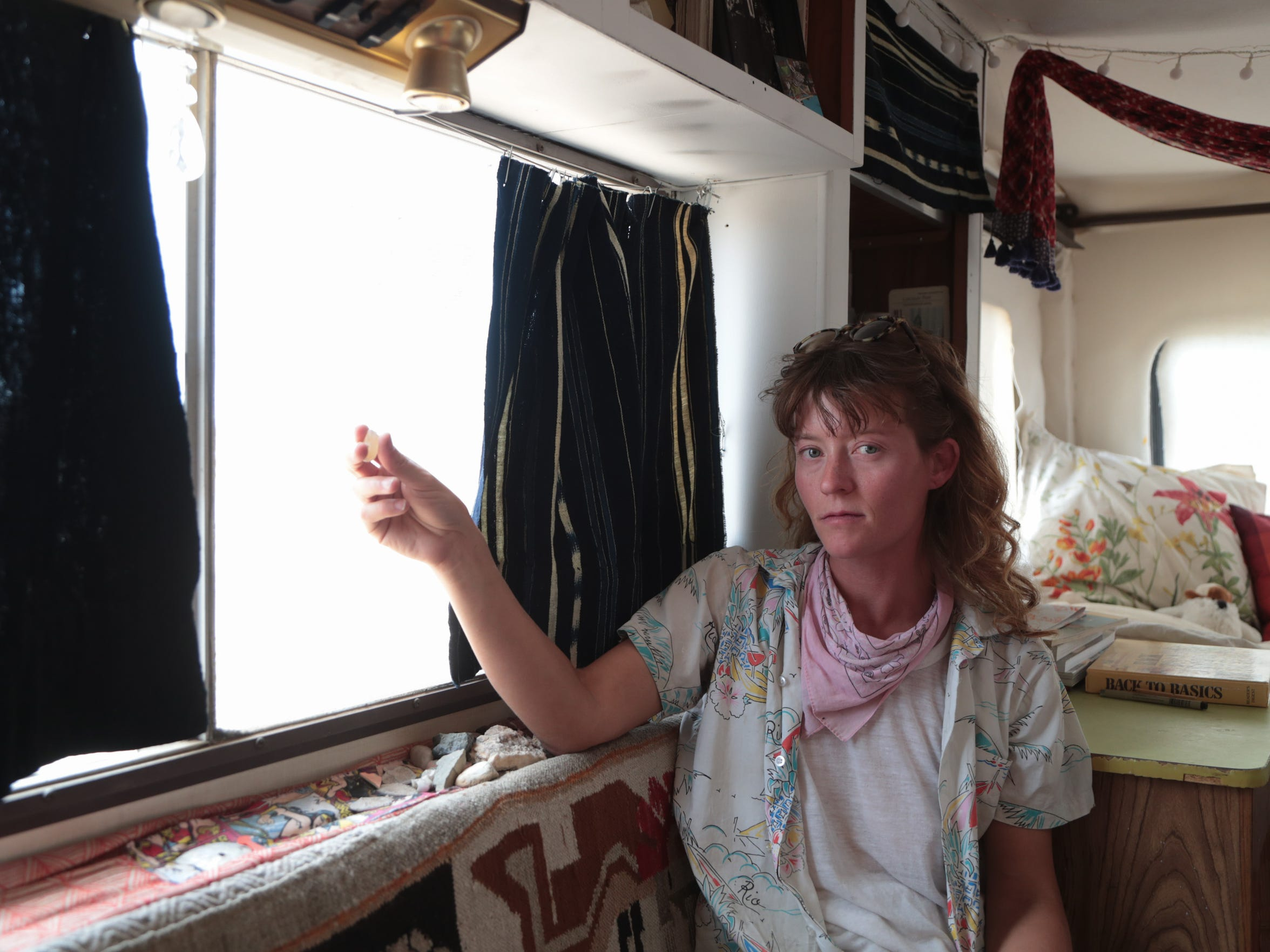 For the past two years Lindsey has been living in an RV in Wonder Valley, Calif. She is building a space that can bring artists and community together.