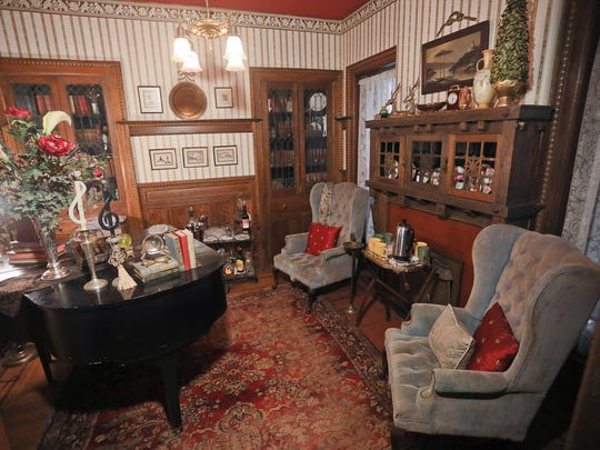 The music room at the home of Virginia Ehrlich in Louisville.