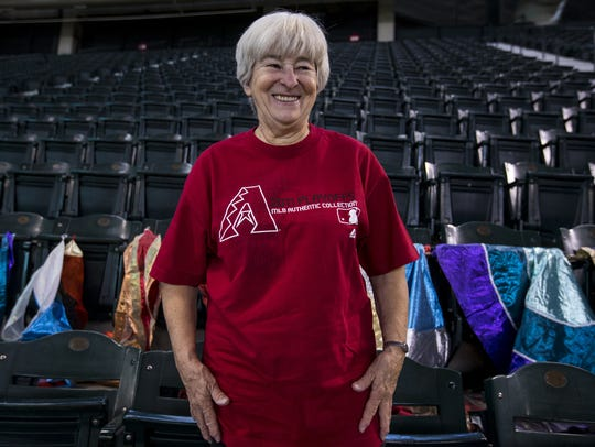 """Cindy McBride, more commonly known as the """"Flag Lady,"""""""