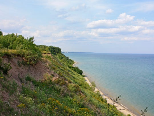 The Lion's Den Gorge Nature Preserve in Grafton features 90- to 100-foot bluffs that provide sweeping views of Lake Michigan.