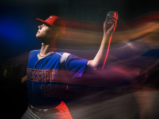 Caden Grice of Riverside High School is the 2017-18 Greenville News Upstate baseball player of the year.
