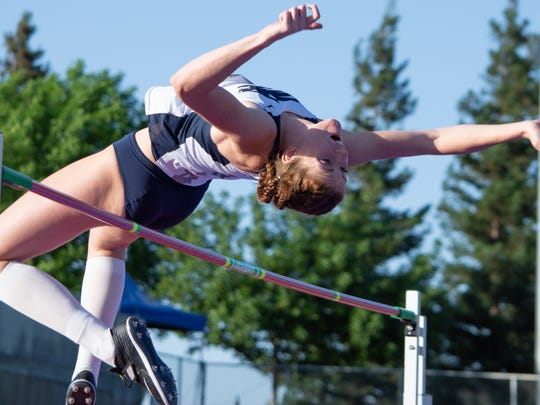 Leah Carter is one of three Nevada high jumpers who