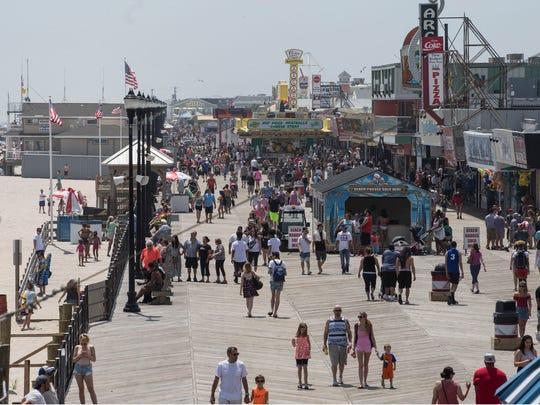 Memorial Day Weekend gets underway along the beach and boardwalk of Seaside Heights. Seaside Heights, NJSaturday, May 26, 2018@dhoodhood