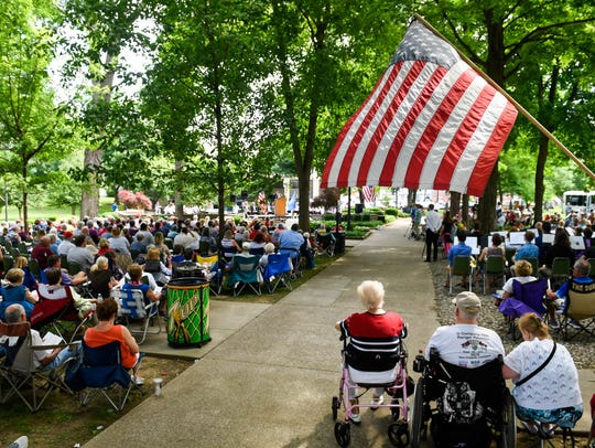 The 72nd annual Memorial Day ceremony under the shade
