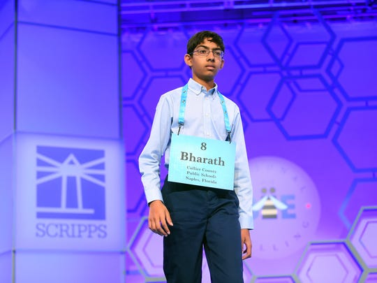 Bharath Ram spelled the word perissad correctly during the 2018 Scripps National Spelling Bee on May 29, 2018 at the Gaylord National Resort and Convention Center in National Harbor, Md.