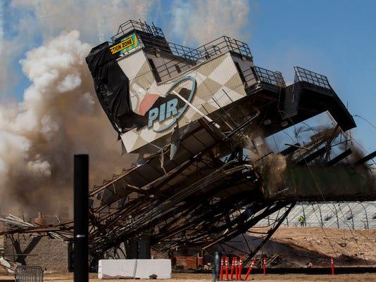 ISM Raceway race control tower demolition