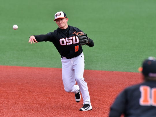 OSU's Andy Armstrong started at second base when Nick