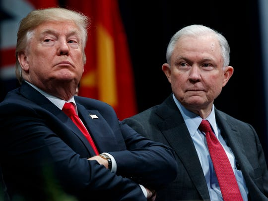 President Trump and Attorney General Jeff Sessions.