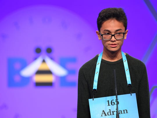 "Guam's Adrian James Beltran spelled the word ""inexcusably"""