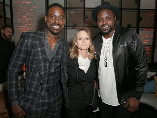 """Hotel Artemis"" stars Sterling K. Brown (from left),"