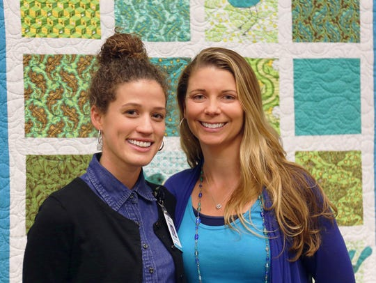Maggie Adams and Amanda Murphy of MAHEC are working