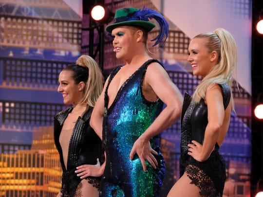 International Superstar Hans, center, impressed the