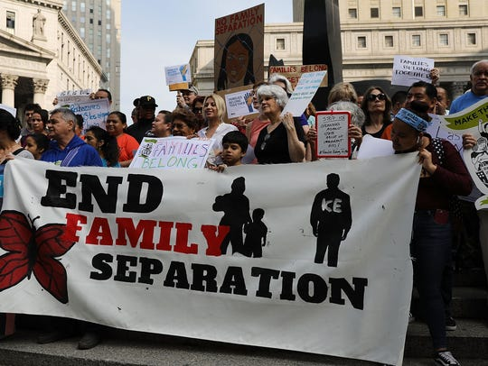 NEW YORK, NY - JUNE 01:  Hundreds of immigrant rights