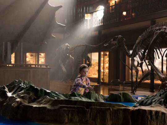 "Maisie (Isabella Sermon) is a big dinosaur fan in ""Jurassic World: Fallen Kingdom."""