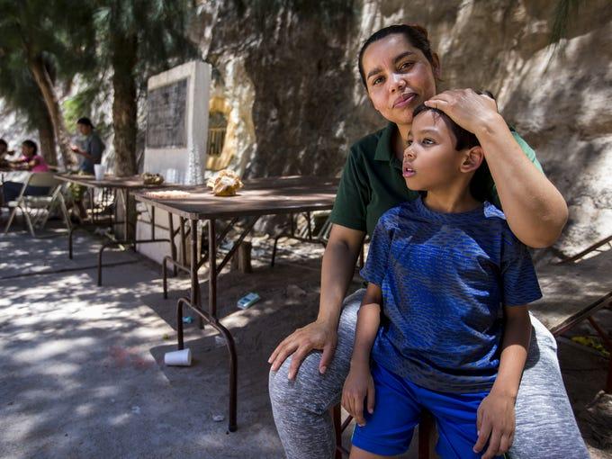 Miria Maradiaga, 40, of Honduras, poses for a portrait