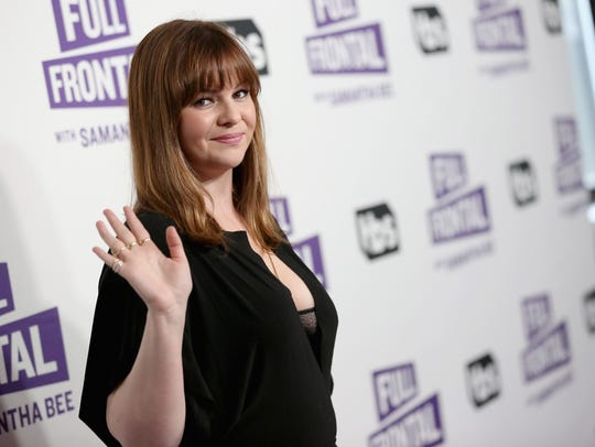"Amber Tamblyn attends the ""Full Frontal with Samantha"