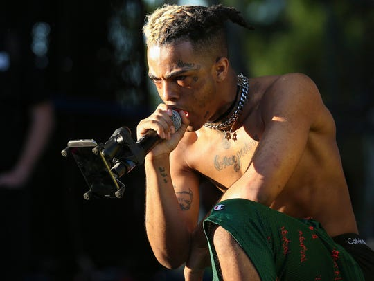 XXXTentacion performs during the second day of the