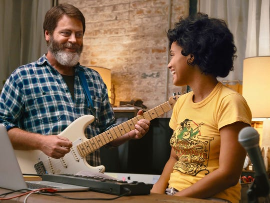 """Nick Offerman and Kiersey Clemons play father-and-daughter bandmates in """"Hearts Beat Loud."""""""