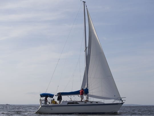 A Special Olympics Sailing Program sails out of the