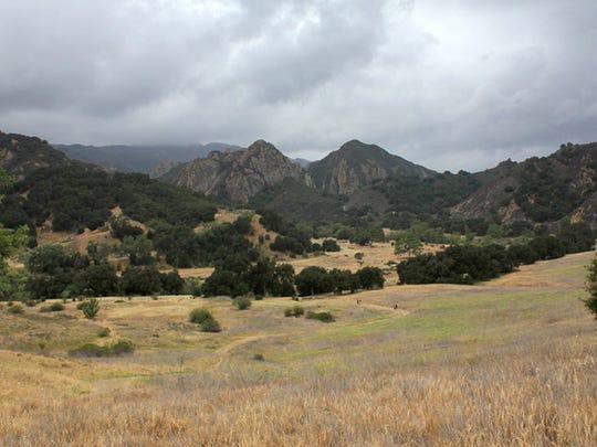 This May 5, 2013, file photo shows Malibu Creek State Park in the Santa Monica Mountains near Calabasas.