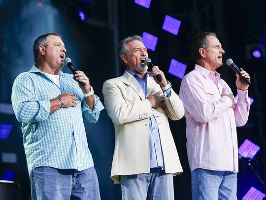 From left, Steve Gatlin, Larry Gatlin and Rudy Gatlin