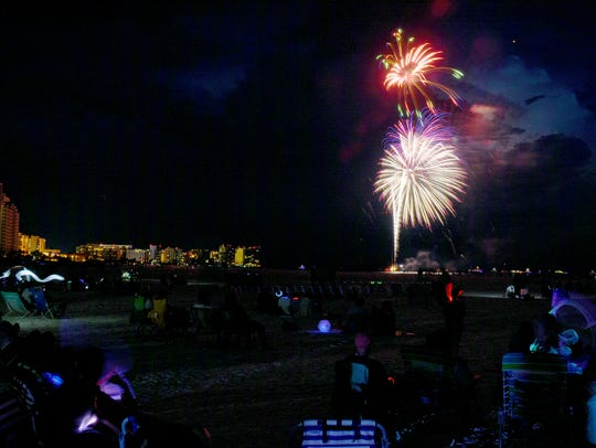 Mother Nature joined with the fireworks to create the