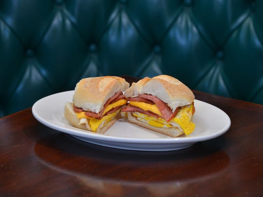 Signature Must Have Jersey Foods, Bogie's Hogies famous Ripper sandwich, Taylor Ham and Egg sandwich,