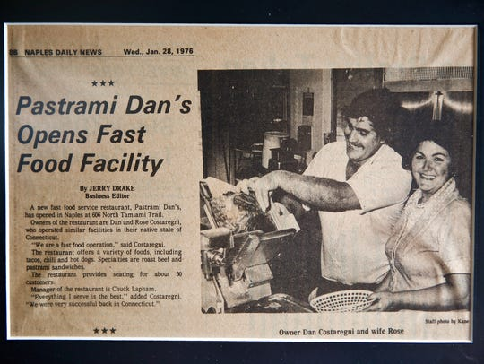 An article from the Naples Daily News in 1976 announcing
