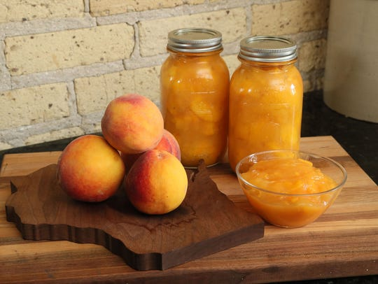 Peach pie filling is made from the same basic recipe