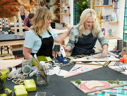 "Amy Poehler (left) and Joanna Gick are seen in ""Making It."""