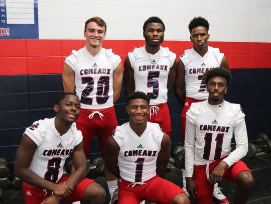 Comeaux's secondary of Brennan Sturm (20), Tyrek Boyd (5), Knorrowkoa Jones (7), Kavias Honore (8), Christian Archangel (1) and Orlando Thomas (11) brings lots of talent and seasoning to the Spartans.
