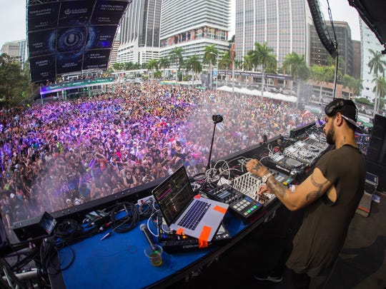 DJ/producer Marc Kinchen, known as MK, performs at Ultra.