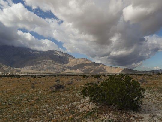Clouds roll into the San Gorgonio Pass near Tipton