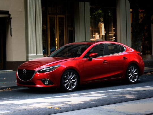 This photo provided by Mazda shows the 2014 Mazda 3,