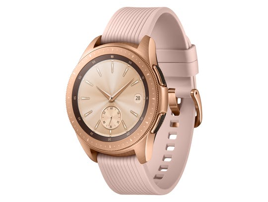 Samsung rose gold Galaxy Watch