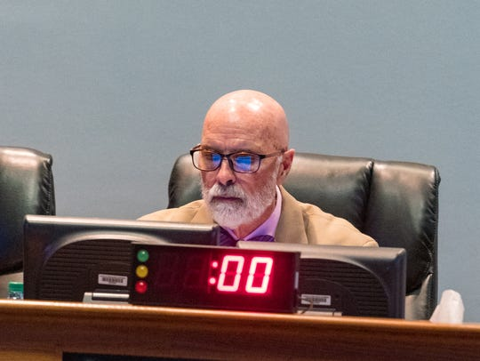 Council Member Bruce Conque at the Lafayette City Parish