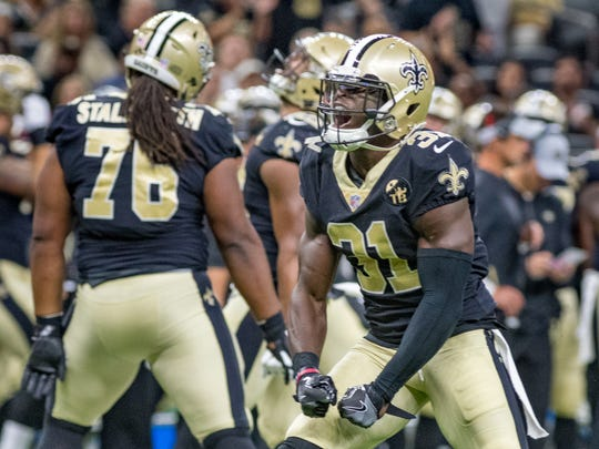 Saints Safety Chris Banjo as The New Orleans Saints take on the Los Angeles Rams in the Mercedes-Benz Superdome. Thursday, Aug. 30, 2018.