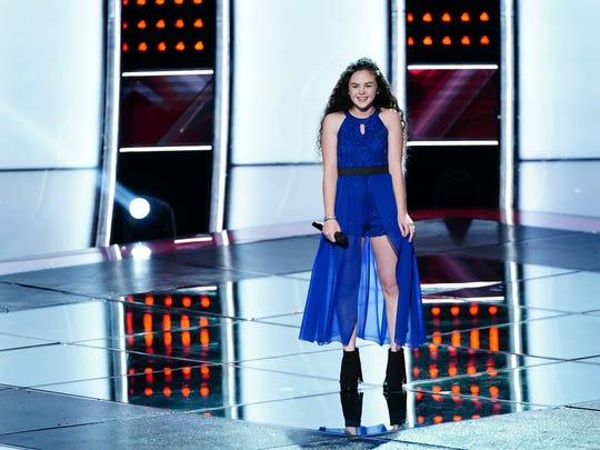 "Farmington's Chevel Shepherd performs during her ""Blind"