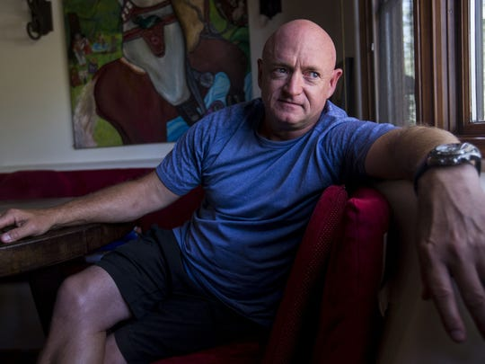Mark Kelly, former Naval aviator and astronaut now running for the U.S. Senate.