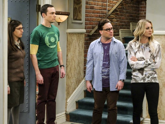 Amy Farrah Fowler (Mayim Bialik), left, Sheldon Cooper (Jim Parsons), Leonard Hofstadter (Johnny Galecki) and Penny (Kaley Cuoco) and their friends on 'The Big Bang Theory' have evolved to varying degrees over the CBS comedy's record-setting 279-episode run.