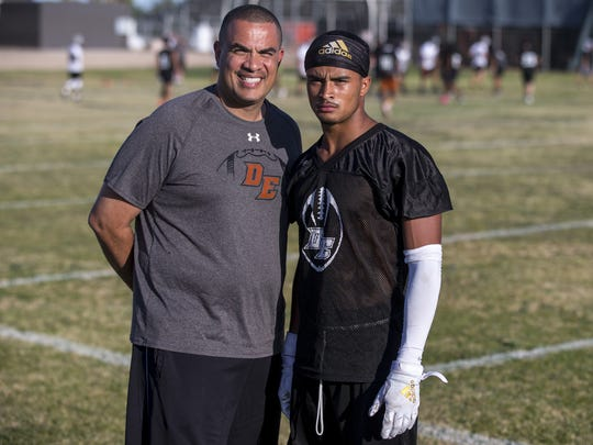 Desert Edge recruiting liaison Steven Ortiz poses for