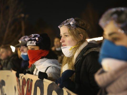 Protesters in Ferguson, Mo.