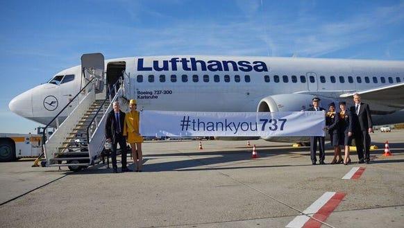 Lufthansa said goodbye to its fleet of Boeing 737 aircraft